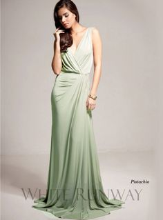 Bridgette Dress. Chic and elegant full length gown by Pia Gladys Perey. Available in Latte and a variety of Custom Colours.