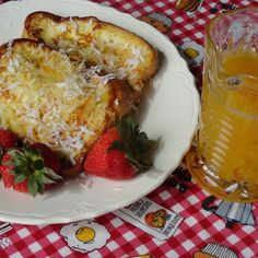 Pina Colada French Toast & Orange Syrup #recipe | Justapinch.com