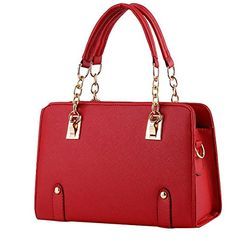 ILISHOP Women's New Fashion Shoulder Bags Top-handle Bags For Ladies Casual Cross-body Bags For Teens Hot Sale (Red) * Continue to the product at the image link. http://www.amazon.com/gp/product/B00N20Y3X0/?tag=clothing8888-20&ptu=290916002954