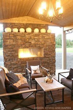 Cozy Outdoor Living Space via http://designdininganddiapers.com