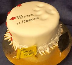 Game of Thrones Cake Stark House Sigil Cake by The Regali