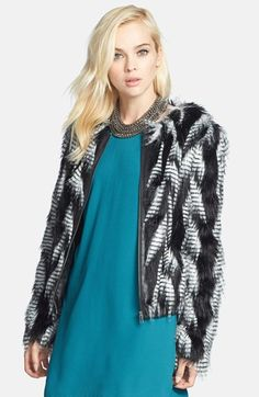 Leith Faux Fur Jacket available at #Nordstrom