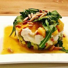 Avocado - Mozzarella - Salat mit Mango