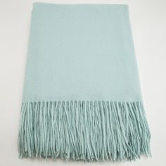 Waterwave Cashmere Blend Throw in Light Aqua, love this for inspiration