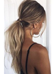 Tousled Low Ponytail - The Coolest Ponytail Hairstyles Ever - Photos - ., Frisuren,, Tousled Low Ponytail - The Coolest Ponytail Hairstyles Ever - Photos - Source by Holiday Hairstyles, Quick Hairstyles, Summer Hairstyles, Straight Hairstyles, Braided Hairstyles, Blonde Hairstyles, Celebrity Hairstyles, Celebrity Outfits, Pretty Hairstyles