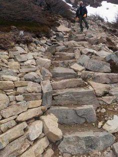 hillsid step, beauti rock, club creat, trail club, patagonia trail