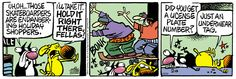 A daily comic strip by Mike Peters, Mother Goose And Grimm / 5. extra help for the holidays