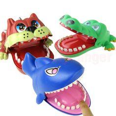 Large Bulldog, Crocodile or Shark Mouth Dentist Bite Finger Game