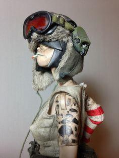 "superisland: "" My custom Tank girl "" Character Concept, Character Art, Concept Art, 3d Figures, Vinyl Figures, Tank Girl, Toy Art, Nail Bat, Arte Steampunk"