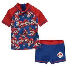 af55162df3f61 Boys Character SwimwearUK: Nintendo Super Mario 2 Piece Swim Set –  noveltycharacter