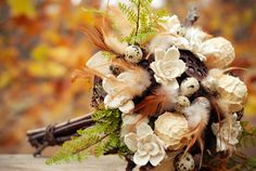 Natural, sustainable bouquets ~ keepsake...{The Monarch Flower Company}  filled with pods, dried and sola flowers, quail eggs, nests, bark and branches.
