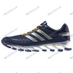 hot sale online 27b83 56c0c Cheap Adidas 2014 Springblade II Navy Silver Orange Men s Running shoes  Online