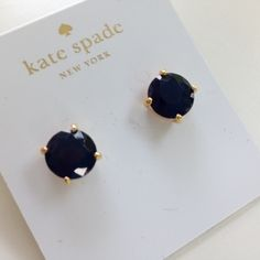 SALE Kate Spade French Navy Gumdrop Studs Gorgeous French Navy Blue Kate Spade earrings. Comes with brown Kate dust bag and Kate gift/shopping bag as shown in photo kate spade Jewelry Earrings