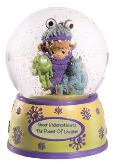 Precious Moments Disney Monsters Inc Sulley Mike Music Box Water Globe Snow Dome Disney Precious Moments, Precious Moments Figurines, Water Globes, Snow Globes, Disney Music Box, Monsters Inc Baby Shower, Disney Snowglobes, Disney Monsters, I Love Snow