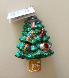Radko FAO Schwarz CLOCK TOWER Glass Christmas Ornament LTD ED Box
