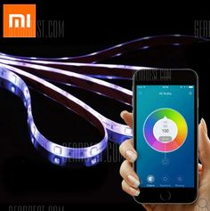 Original Xiaomi Yeelight Smart Light Strip WiFi Enabled 16 Million Colors - CoolNerd - Technology Comparison Shopping Engine & Marketplace Strip Led, Led Light Strips, Home Gadgets, Electronics Gadgets, Smartphone, Ipod, Wifi, Gear Best, Light Flashlight