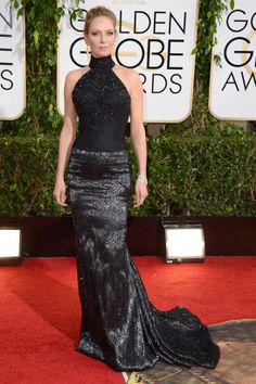 Uma Thurman veste Versace no Globo de Ouro 2014 (12/01/14)