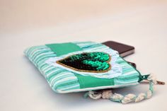 Hearts and lace pleated Clutch Purse zippered by ValkinThreads, $28.00