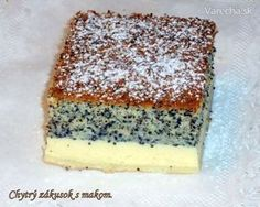 Chytrý zákusok s makom (fotorecept) - Recept Slovak Recipes, Czech Recipes, Yummy Treats, Sweet Treats, Yummy Food, Helathy Food, Toffee Bars, Kolaci I Torte, Desert Recipes