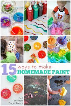 15 {Easy} Homemade Paint Recipes - Kids Activities Blog