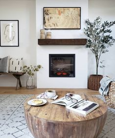 DIY Electric Fireplace How-To Tutorial - Kismet House - Home. DIY Electric Fireplace How-To Tutorial – Kismet House - Faux Fireplace, Fireplace Remodel, Modern Fireplace, Fireplace Mantle, Living Room With Fireplace, Fireplace Surrounds, Fireplace Design, My Living Room, Living Room Decor