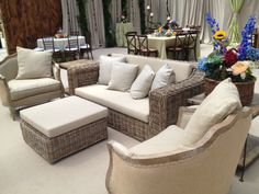 Loving this Orleans rattan sofa with our Love chairs! Great combo! | beachview.net