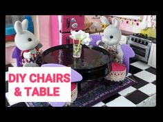 DIY CHAIR AND TABLE MINIATURE FOR DOLL HOUSE | RECYCABLE MATERIALS | DIY HACKS FOR DOLLS - YouTube Sylvanian Families, Diy Chair, Diy Hacks, Miniatures, Make It Yourself, Dolls, Table, Youtube, House