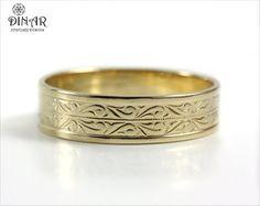 Van Craeynest handengraved Art Deco wedding ring design No 456
