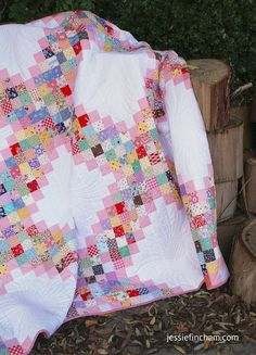 The FINISHED Scrappy Irish Chain Quilt + FREE Downloadable Pattern!