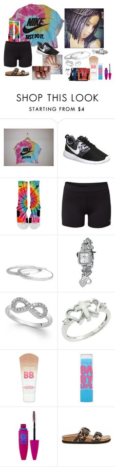 """I'm outside.."" by okayandduh ❤ liked on Polyvore featuring NIKE, Lija, YooLa, XOXO, Maybelline, Steve Madden, women's clothing, women's fashion, women and female"