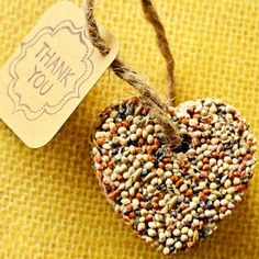 Nesting theme shower - Heart-shaped birdseed party favour