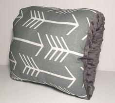 Gray and White Arrow Nursing Pillow/ Tribal by FromMeinhartToYours