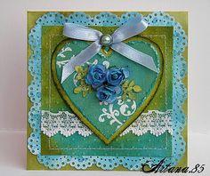 Kartka z ręcznie barwionego papieru