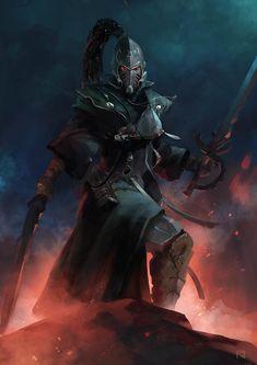 Dark Eldar of the Striking Scorpions Aspect Warriors (notice the time upon his helm) Fantasy Warrior, Sci Fi Fantasy, Dark Fantasy, Eldar 40k, Warhammer Eldar, Warhammer Fantasy, Twilight Princess, Character Art, Character Design