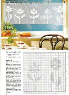 window crochet flowers -  Diana Bistro Gardinen D 1302 - Zosia - Álbumes web de Picasa