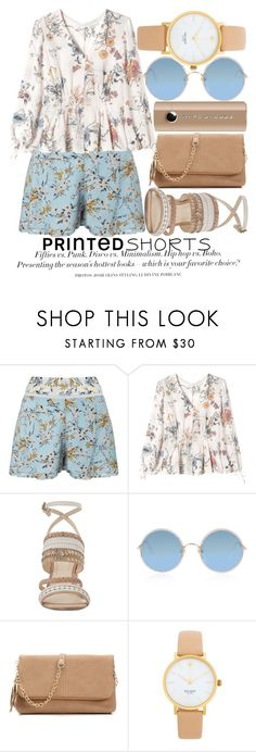 """""""PRINTED SHORTS #2"""" by noraaaaaaaaa ❤ liked on Polyvore featuring Miss Selfridge, Rebecca Taylor, Nine West, Sunday Somewhere, Urban Expressions, Kate Spade, Marc Jacobs, H&M, printedshorts and playfulskorts"""