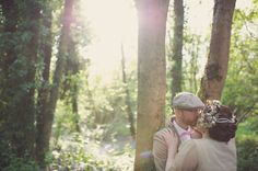 Beautiful Couple Portraits in Bluebell covered Forest,Vintage Jewellery Details, Handmade Weddings, May Wedding, Spring Wedding, Vintage, Chalk Lane Hotel, Tadworth Village Hall, Surrey, Rebecca Douglas Photography