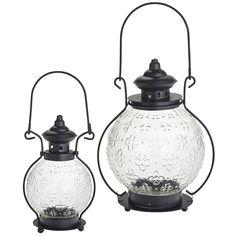 Medallion Glass Lanterns - Clear | Pier 1 Imports