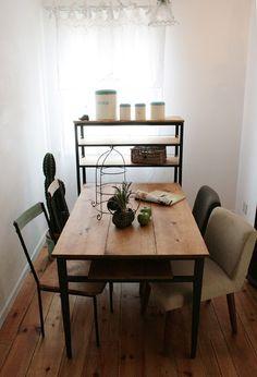 ラスティックアイアン アイアンカフェテーブル(棚板なし) 1200×800:インテリアショップ MOBILE GRaNDE~モビリグランデ~ パイン家具、オーク家具、ホワイト家具、シャンデリア専門店