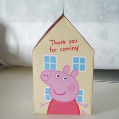 This is the ORIGINAL Peppa Pigs House Project you have seen in many internet party blogs.    SEE IT HERE - copy and paste the following address on
