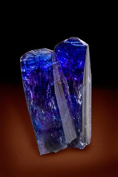 Tanzanite crystals of exceptionally high quality, Tanzania. Found almost…