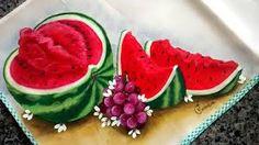 Resultado de imagem para como pintar melancia aberta em tecido