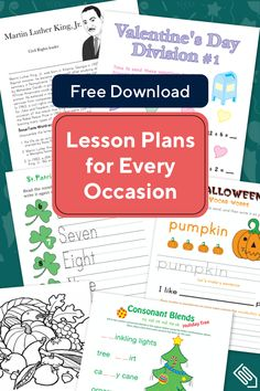 Download your free K-6 lesson plans today. Standards-aligned. Organized by concept. Curriculum Planning, Preschool Curriculum, Preschool Lessons, Preschool Math, Science Classroom, Kindergarten, Homeschool, Teaching Strategies, Teaching Tips