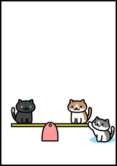 """Aphorism Neko Atsume"" 3 panel cartoon  #nekoatsume"