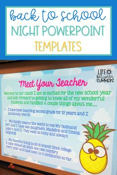 Are you looking for an editable Back to School Night PowerPoint template with a pineapple theme that you can quickly customize?! This meet the teacher presentation will help you clearly present information to parents in a fun way so you can build strong parent teacher relationships from the start. This is a great way to kickoff parent communication in your classroom. As a bonus, the PowerPoint also comes with matching sign-in and volunteer sign-up forms for your parents.
