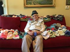 86-Year-Old Teaches Himself To Knit To Make Little Caps For Premature Babies