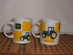 Selling on vFLea.com - John Deere China Coffee Mugs-set of 2-$14+$7 s/h