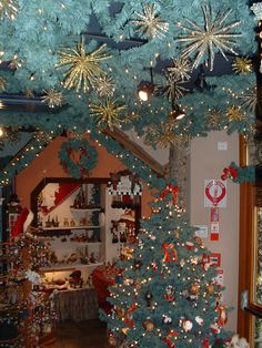 Riquewihr,Alsace,France Christmas shop open all year