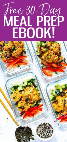 Get your hands on this Meal Prep Magic PDF eBook. There are 4 weeks' worth of planned out meals, prep ahead outlines and filled in shopping lists to take the guesswork out of your meal prep Healthy Meals To Cook, Good Healthy Recipes, Healthy Cooking, Whole Food Recipes, Vegan Recipes, Healthy Eating, Cooking Recipes, Dinner Healthy, Delicious Recipes