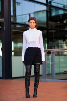 Over-the-knee boots. #ZUshoes #overthekneeboots #winterstyle